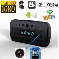 CAMARA ESPIA WIFI P2P IP OCULTA RELOJ DESPERTADOR FULL HD 1080P VISION NOCTURNA