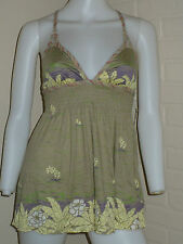 NEW FREE PEOPLE FLOWER ANTHROPOLOGIE CUTE TANK TOP LOLITA S SMALL $58