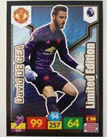 2019/20 PANINI EPL Premier League Soccer Card - David de Gea Limited Edition