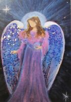 Glittered PRINT ACEO Angel Miniature Spiritual Inspirational CapeCodArtist