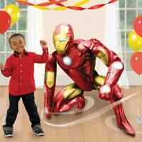 Ironman Party Giant Airwalker AIR FILL Foil  Balloon No Helium Decoration