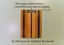 Handcrafted Multi-Wooden Clipboard With Hangable Low Profile clip USA.