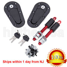 JDM Universal Racing Car Plus Flush Mount Hood Latch Pin Key Locking Kit Pair