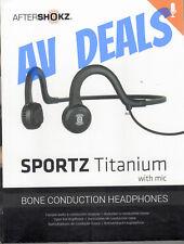 AfterShokz AS451XB Sportz Titanium Wired Onyx Black Bone Conduction Headphone