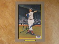 TED WILLIAMS (HOF/66) PEREZ STEELE GREAT MOMENTS SIGNED AUTOGRAPH RED SOX PSA
