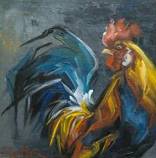 Rooster oil painting 6