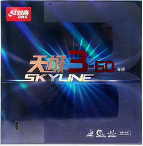 DHS Skyline 3-60 Table Tennis Rubber, 37 Degrees, 2.1 Red or Black
