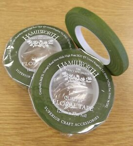 MOSS GREEN HALF WIDTH florist tape/Stem-Tex - suitable for craft, floristry work
