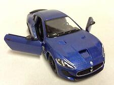 "2016 Maserati Gran Turismo MC Stradale 5"" Diecast 1:38 Toy Car Kinsmart Blue"