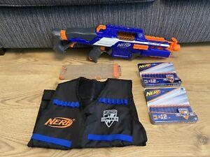 NERF N-STRIKE ELITE RapidStrike CS-18 Blaster Gun with 18 Dart Mag Ammo & Vest