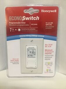 HONEYWELL ECONOSWITCH PROGRAMMABLE TIMER RPLS540A WHITE NEW 7 DAY LIGHT SWITCH