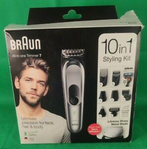 Braun 10-in-1 All-in-one Trimmer 7 MGK7221, Beard Trimmer for Men, Hair Clipper