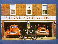 Postcard PA Greencastle Rescue Hose Fire Company Number 1 Fire Department