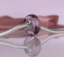 New Genuine Pandora Silver Pink Butterfly Kisses Murano Glass Charm 791621