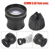 52mm 3.5X Universal Metal Teleconverter Telephoto Lens for DSLR Camera Accessory
