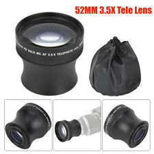 52mm 3.5X Universal Metal Teleconverter Telephoto Lens for DSLR Camera Accessory