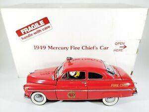 Danbury Mint 1949 Mercury Fire Chief's Car 1:24 Scale Diecast Fireman Car w/ Box