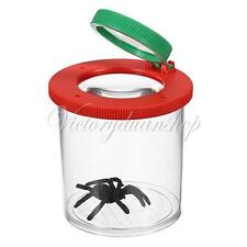 Bug Observe Box Jar Insect Viewer Clear Holder Catcher with Magnifier Kid Toy