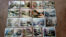 Set of 17 Thomas Kinkade Plates