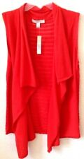 Women's Lacey Coral LARGE Cardigan/Open Shrug Madison Hill Cotton/Nylon NWT