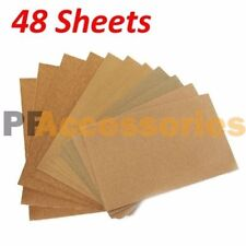 48 Sheets Assorted Grits Sandpaper Sanding Paper 9 x 11