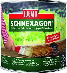 Lugato Schnexagon Ökologischer Schutzanstrich Schnecken Schutz Antihaft Anstrich
