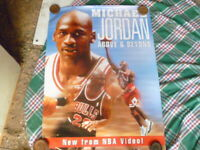 MICHAEL JORDAN ABOVE AND BEYOND  1 SHEET MOVIE POSTER AUST VIDEO