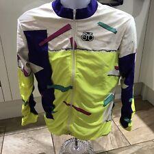 Mens Long Sleeve Full Zip Retro Cycling Jersey Size XL
