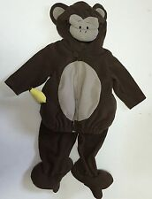 Baby Infant Monkey Halloween Costume Furry Brown Banana