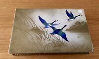 Vintage Frys Cardboard chocolate box Flying Geese