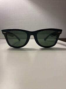 Vintage Bausch & Lomb Ray-Ban B&L5022 Wayfarer Sunglasses Black Thick Frames