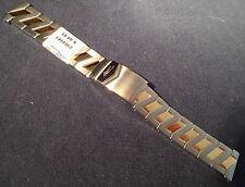 New ZRC France 20mm Bracelet 2 Tone Unique Z Design Watch Band Flip Lock $89.95