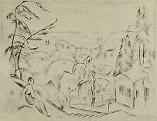 Friedrich Ahlers-Hestermann. Blankenese, Blick auf das Wasser