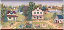 AMERICAN COLONIAL TOWN SAILBOAT UNCLE SAM FLAG Wallpaper bordeR Wall Decor