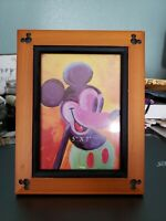 WALT Disney Mickey Mouse Ears Beveled Wood Picture Frame PHOTO  4x6 Picture