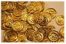 """Aluminum Jingle Coins Belly Dancing Jewelry Craft Costume 12mm ( 1/2"""" ) Gold"""