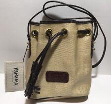 Dooney & Bourke Vintage Panama Collection Dark Brown Mini Drawstring Bucket Bag