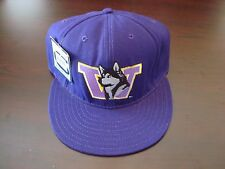 WASHINGTON HUSKIES CLASSIC DOG RARE  FITTED SZ 7 1/2 HAT CAP VINTAGE 1990'S