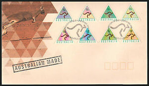 """1994 ATM Triangular stamps FDC  """"Australian Made""""  Immaculate!  • FREE POST •"""