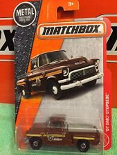 Matchbox '57 GMC STEPSIDE Pickup County Sheriff New In Package 1:64 Die Cast
