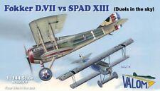 Valom Models 1/144 Fokker D.VII vs SPAD XIII (Four Kits in Box)