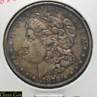 1878 Morgan Silver Dollar $1 AU Details 90% Silver Reverse 1878 Toned
