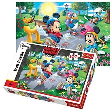 Trefl 100 Teile Kinder Unisex Disney Mickey Maus Clubhouse Skating Puzzlespiel