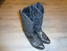 Justin Leather Cowboy Western Leather Boots Men's 8.5 D Style 2401