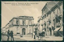 Messina città ABRASA cartolina XB3579