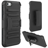 iPhone 6 6S SHOCKPROOF HEAVY DUTY ARMOR HOLSTER DEFENDER HYBRID CASE COVER CLIP