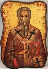 Greek Orthodox Icon of St. Axihillos (Achilles or Achillas) Bishop of Alexandria