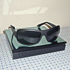 NEW EMPORIO ARMANI EA4012-504287-63 MEN'S BLACK RECTANGLE SUNGLASSES