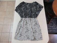Women's ARMANI EXCHANGE Size M Mini Dress Black Beige Near New Polka Dots Frilly