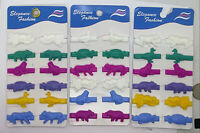 LOT OF 1,4,8,16 PACK--12 COUNT ANIMAL HAIR BARRETTES,PONYTAIL HOLDERS